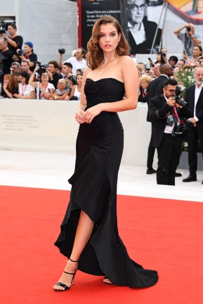 """VENICE, ITALY - AUGUST 28: Barbara Palvin walks the red carpet ahead of the Opening Ceremony and the """"La Vérité"""" (The Truth) screening during the 76th Venice Film Festival at Sala Grande on August 28, 2019 in Venice, Italy. (Photo by Daniele Venturelli/WireImage )"""