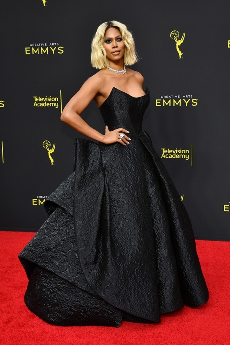 Mandatory Credit: Photo by Michael Buckner/Variety/Shutterstock (10413445bi) Laverne Cox 71st Annual Primetime Creative Arts Emmy Awards, Day 2, Arrivals, Microsoft Theater, Los Angeles, USA - 15 Sep 2019