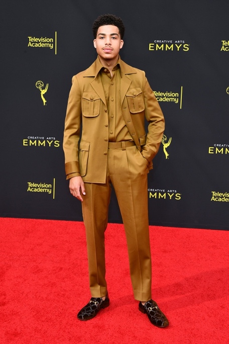 Mandatory Credit: Photo by Michael Buckner/Variety/Shutterstock (10413445ag) Marcus Scribner 71st Annual Primetime Creative Arts Emmy Awards, Day 2, Arrivals, Microsoft Theater, Los Angeles, USA - 15 Sep 2019