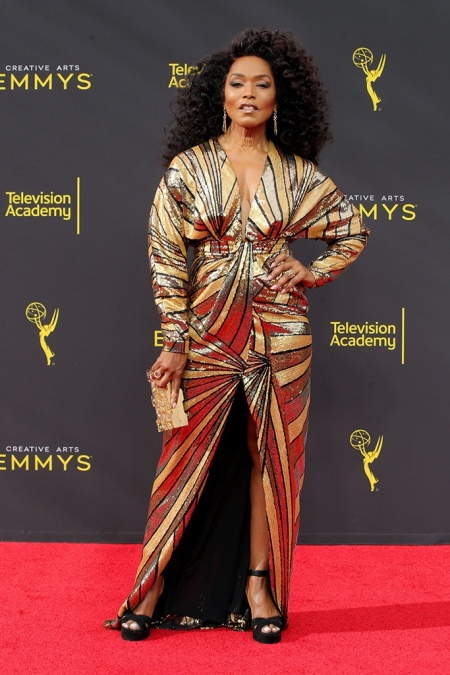 Mandatory Credit: Photo by Chelsea Lauren/Shutterstock (10413428gt) Angela Bassett 71st Annual Primetime Creative Arts Emmy Awards, Day 1, Arrivals, Microsoft Theater, Los Angeles, USA - 14 Sep 2019
