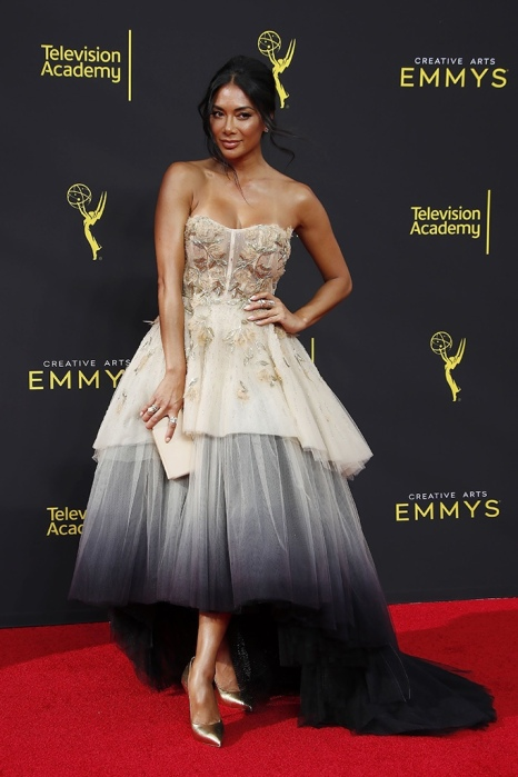 Mandatory Credit: Photo by NINA PROMMER/EPA-EFE/Shutterstock (10414206j) Nicole Scherzinger arrives on the red carpet for the 2019 Creative Arts Emmy Awards at the Microsoft Theater in Los Angeles, California, USA, 14 September 2019. The Creative Arts Emmy Awards honor excellence in Television technical categories such as makeup, casting direction, costume design, editing and cinematography. The 71st Primetime Emmy Awards Ceremony will take place on 22 September 2019. 2019 Creative Arts Emmys, Los Angeles, USA - 14 Sep 2019