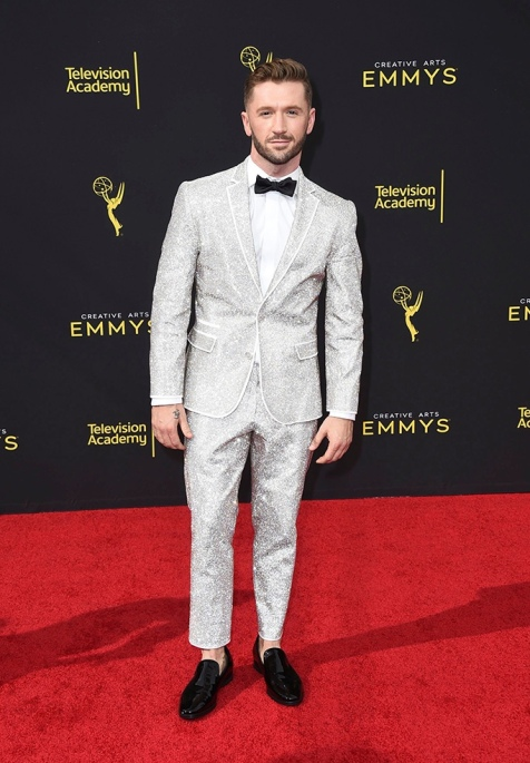 Mandatory Credit: Photo by Jordan Strauss/Invision/AP/Shutterstock (10414121cs) Travis Wall arrives at night one of the Television Academy's 2019 Creative Arts Emmy Awards, at the Microsoft Theater in Los Angeles Television Academy's 2019 Creative Arts Emmy Awards - Arrivals - Night One, Los Angeles, USA - 14 Sep 2019