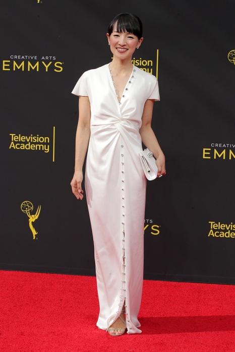 Mandatory Credit: Photo by Chelsea Lauren/Shutterstock (10413428gd) Marie Kondo 71st Annual Primetime Creative Arts Emmy Awards, Day 1, Arrivals, Microsoft Theater, Los Angeles, USA - 14 Sep 2019