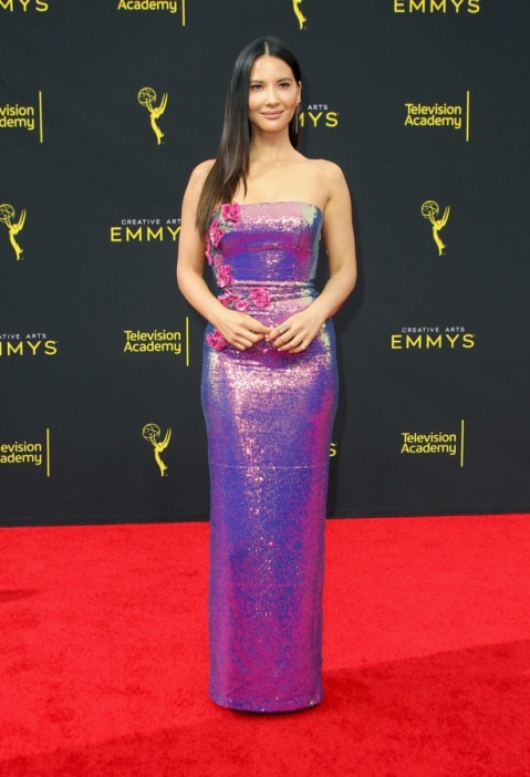 Creative Arts Emmy 2019 - Day 2 Arrivals held at the Microsoft Theatre in Los Angeles, California. Featuring: Olivia Munn Where: Los Angeles, California, United States When: 16 Sep 2019 Credit: Adriana M. Barraza/WENN.com